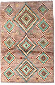 Moroccan Berber - Afghanistan Matta 91X138 Äkta Modern Handknuten Mörkbrun/Mörkröd (Ull, Afghanistan)