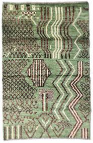 Moroccan Berber - Afghanistan Matta 77X119 Äkta Modern Handknuten Olivgrön/Mörkgrå (Ull, Afghanistan)