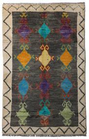 Moroccan Berber - Afghanistan Matta 84X134 Äkta Modern Handknuten Mörkgrå/Ljusgrå (Ull, Afghanistan)