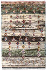 Moroccan Berber - Afghanistan Matta 88X135 Äkta Modern Handknuten Beige/Mörkgrå (Ull, Afghanistan)