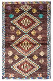 Moroccan Berber - Afghanistan Matta 87X141 Äkta Modern Handknuten Mörkbrun/Ljusbrun (Ull, Afghanistan)