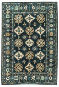 Kazak Matta 203X298 Äkta Orientalisk Handknuten Mörkblå/Mörk Turkos (Ull, Afghanistan)