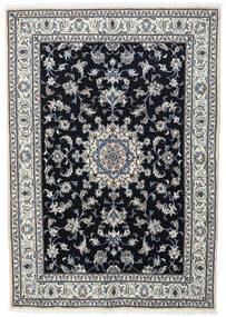 Nain Matta 166X236 Äkta Orientalisk Handknuten Svart/Ljusgrå (Ull, Persien/Iran)