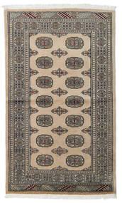 Pakistan Bokhara 2Ply Matta 96X161 Äkta Orientalisk Handknuten Ljusgrå/Mörkgrå (Ull, Pakistan)