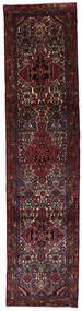 Hamadan Matta 78X323 Äkta Orientalisk Handknuten Hallmatta Mörkbrun/Mörkröd (Ull, Persien/Iran)
