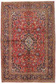 Sarough Sherkat Farsh Matta 134X215 Äkta Orientalisk Handknuten Mörkbrun/Mörkröd (Ull, Persien/Iran)