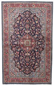 Sarough Sherkat Farsh Matta 128X210 Äkta Orientalisk Handknuten Mörklila/Ljusgrå (Ull, Persien/Iran)