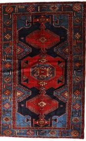 Hamadan Matta 127X205 Äkta Orientalisk Handknuten Mörkbrun/Mörkröd (Ull, Persien/Iran)