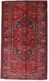 Hamadan Matta 135X228 Äkta Orientalisk Handknuten Mörkröd/Röd (Ull, Persien/Iran)