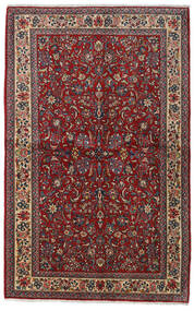 Sarough Sherkat Farsh Matta 135X212 Äkta Orientalisk Handknuten Mörkröd/Mörkgrå (Ull, Persien/Iran)