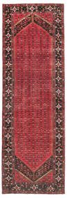 Enjelos Matta 165X512 Äkta Orientalisk Handknuten Hallmatta Mörkröd/Mörkgrå (Ull, Persien/Iran)