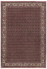 Bidjar Med Silke Matta 172X251 Äkta Orientalisk Handknuten Mörkbrun/Mörkröd (Ull/Silke, Persien/Iran)