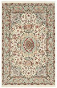 Tabriz 70 Raj Silkesvarp Matta 100X152 Äkta Orientalisk Handknuten Ljusgrå/Beige (Ull/Silke, Persien/Iran)