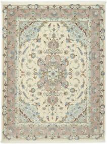 Tabriz 50 Raj Med Silke Matta 155X203 Äkta Orientalisk Handknuten Ljusgrå/Beige (Ull/Silke, Persien/Iran)