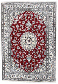 Nain Matta 164X235 Äkta Orientalisk Handknuten Ljusgrå/Vit/Cremefärgad (Ull, Persien/Iran)
