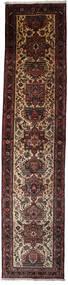 Hamadan Matta 97X435 Äkta Orientalisk Handknuten Hallmatta Mörkröd/Mörkbrun (Ull, Persien/Iran)