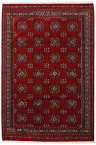 Pakistan Bokhara 3Ply Matta 201X301 Äkta Orientalisk Handknuten Mörkröd/Mörkbrun (Ull, Pakistan)
