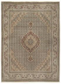 Tabriz 50 Raj Med Silke Matta 155X210 Äkta Orientalisk Handknuten Ljusgrå/Ljusbrun (Ull/Silke, Persien/Iran)