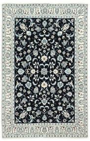 Nain 6La Matta 130X200 Äkta Orientalisk Handknuten Mörkblå/Beige (Ull/Silke, Persien/Iran)