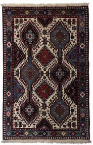 Yalameh Matta 80X126 Äkta Orientalisk Handknuten Mörkröd/Ljusgrå (Ull, Persien/Iran)