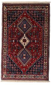 Yalameh Matta 83X134 Äkta Orientalisk Handknuten Mörkröd (Ull, Persien/Iran)