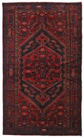 Hamadan Matta 134X226 Äkta Orientalisk Handknuten Mörkröd (Ull, Persien/Iran)