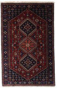 Yalameh Matta 80X126 Äkta Orientalisk Handknuten Mörkröd (Ull, Persien/Iran)