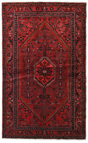 Hamadan Matta 127X209 Äkta Orientalisk Handknuten Mörkröd/Mörkbrun (Ull, Persien/Iran)