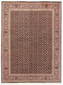 Tabriz 50 Raj Matta 150X200 Äkta Orientalisk Handknuten Mörkröd/Mörkbrun (Ull/Silke, Persien/Iran)