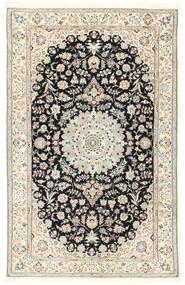 Nain 6La Matta 115X180 Äkta Orientalisk Handknuten Ljusgrå/Vit/Cremefärgad/Mörkgrå (Ull/Silke, Persien/Iran)