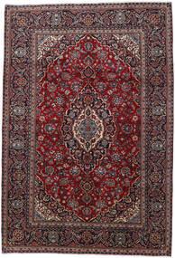 Keshan Matta 200X290 Äkta Orientalisk Handknuten Mörkröd (Ull, Persien/Iran)