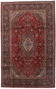 Keshan Matta 200X320 Äkta Orientalisk Handknuten Mörkröd/Mörkgrå (Ull, Persien/Iran)