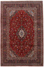 Keshan Matta 197X300 Äkta Orientalisk Handknuten Mörkröd/Svart (Ull, Persien/Iran)