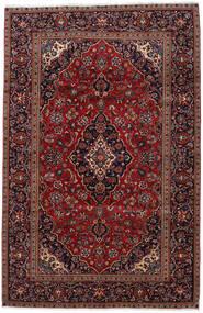 Keshan Matta 193X298 Äkta Orientalisk Handknuten Mörkröd (Ull, Persien/Iran)
