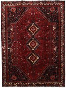 Shiraz Matta 230X306 Äkta Orientalisk Handknuten Mörkröd (Ull, Persien/Iran)