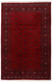 Pakistan Bokhara 3Ply Matta 196X301 Äkta Orientalisk Handknuten Mörkröd/Mörkbrun (Ull, Pakistan)