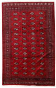 Pakistan Bokhara 3Ply Matta 201X316 Äkta Orientalisk Handknuten Röd/Mörkröd (Ull, Pakistan)