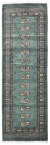 Pakistan Bokhara 3Ply Matta 82X252 Äkta Orientalisk Handknuten Hallmatta Blå/Ljusgrå/Mörkgrå (Ull, Pakistan)