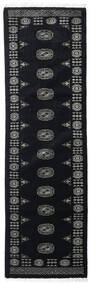 Pakistan Bokhara 3Ply Matta 76X253 Äkta Orientalisk Handknuten Hallmatta Mörkgrå (Ull, Pakistan)