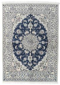 Nain Matta 143X200 Äkta Orientalisk Handknuten Ljusgrå/Mörkblå (Ull, Persien/Iran)