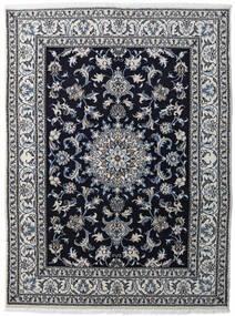 Nain Matta 147X198 Äkta Orientalisk Handknuten Ljusgrå/Svart/Mörkgrå (Ull, Persien/Iran)