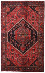 Hamadan Matta 138X225 Äkta Orientalisk Handknuten Mörkröd/Svart (Ull, Persien/Iran)