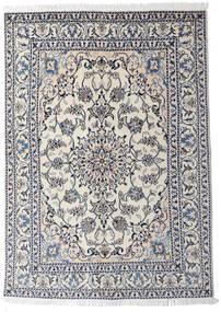 Nain Matta 145X204 Äkta Orientalisk Handknuten Ljusgrå/Mörkgrå (Ull, Persien/Iran)
