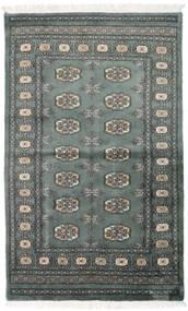 Pakistan Bokhara 3Ply Matta 92X151 Äkta Orientalisk Handknuten Mörkgrå/Mörkgrön (Ull, Pakistan)