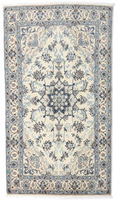 Nain Matta 121X210 Äkta Orientalisk Handknuten Beige/Ljusgrå/Mörkgrå (Ull, Persien/Iran)