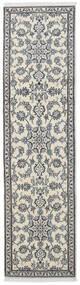 Nain Matta 77X288 Äkta Orientalisk Handknuten Hallmatta Mörkgrå/Ljusgrå/Beige (Ull, Persien/Iran)