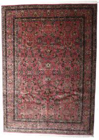 Keshan Indisk Matta 248X347 Äkta Orientalisk Handknuten Mörkbrun/Mörkröd (Ull, Indien)