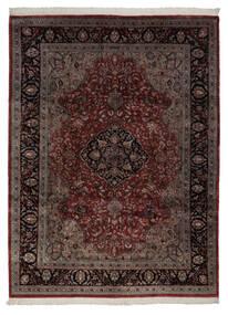 Keshan Indisk Matta 248X335 Äkta Orientalisk Handknuten Mörkröd/Mörkbrun (Ull, Indien)