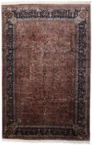 Keshan Indisk Matta 241X368 Äkta Orientalisk Handknuten Svart/Mörkbrun (Ull, Indien)