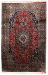 Keshan Indisk Matta 184X278 Äkta Orientalisk Handknuten Mörkbrun/Mörkröd (Ull, Indien)